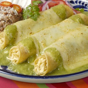 Green Enchiladas in Mexico
