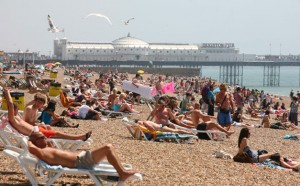 Brighton Beach 300x186 BEST BEACHES IN THE UK