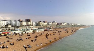 Brighton Beach UK 300x163 Travelling to Brighton