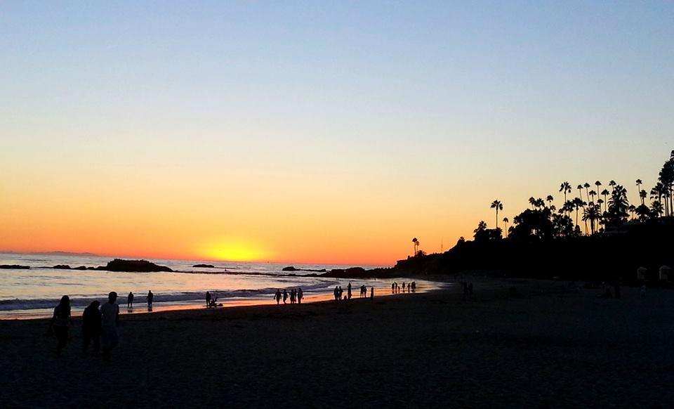 Sunset at Laguna Beach Kealie Mardell on life in California