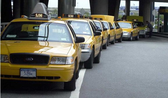 Taxis from the airport? Are you crazy? Take the bus/train/walk!